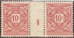 Afrika Senegal Porto 1915- Mi#13 Mit Zwischensteg + Nr. 4 * Falz - Sénégal (1960-...)
