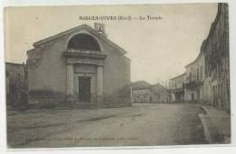 AIGUES VIVES (GARD - 30) - CPA - LE TEMPLE - Aigues-Vives