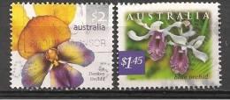 AF006 Australia 2  Stamps Used-oblit.-gestempeld - Orchidées