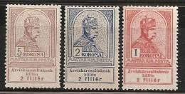HUNGRIA 1913 - Yvert #120/22 - MLH * - Nuevos
