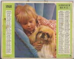 Almanach Des Postes 1968  AIN - Calendars