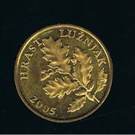 CROATIA - CROACIA -  5 Lipa  2005  KM5  - Oak Leaves - HRAST LUZNJAK - Croacia
