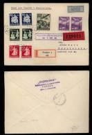 Slowakei Slovakia 1943 Registered Cover Airmail FFC PRESOV BRATISLAVA - Slovaquie