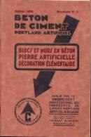 Tijdschrift Brochure 1929 - Beton De Ciment - Bricolage / Technique