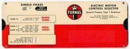 FURNAS ELECTRIC MOTOR CONTROL SELECTOR 1961 - Scienze & Tecnica