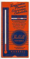 HUBBELL CONTROLLS TEMPERATURE PRESSURE CONVERSION CALCULATOR FOR REFIGERATION - Scienze & Tecnica