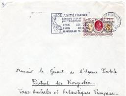 T A A F Kerguelen  Lettre  De  France Pour Kerguelen - Terres Australes Et Antarctiques Françaises (TAAF)