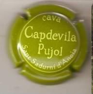 PLACA DE CAVA CAPDEVILA PUJOL  (CAPSULE) VERDE CLARO - Placas De Cava