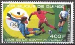 Soccer Football Fussball Guinea Guinee #1260 1989 Olympic Games Barcelona MNH ** - Football