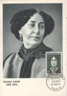 PARIS  Amantine Aurore Lucile Dupin Dite Gerge Sand 1804/1876 écrivain  15/06/57 - Donne Celebri