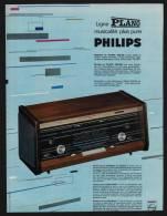 Pub Papier 1963  PHILIPS Radio  Transistor Recepteur Musique - Advertising