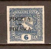 POLOGNE.    .1919..   Y&T N° 96* .  Journaux   Surchargé. - Unused Stamps
