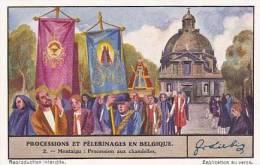 Liebig Vintage Trade Card S1341 Processions & Pilgrimages In Belgium No 2 Procession Aux Chandelles  1936 - Liebig