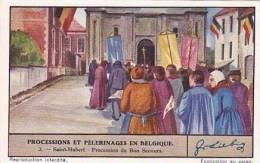 Liebig Vintage Trade Card S1341 Processions & Pilgrimages In Belgium No 3 Procession Du Bon Secours  1936 - Liebig