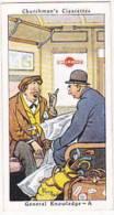 Churchman Vintage Cigarette Card Howlers No 12 General Knowledge A  1937 - Churchman