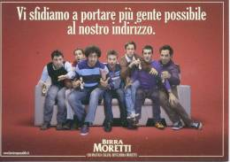3554 - Pubblicitarie, Birraria, Birra Moretti, Calcio, Promocard. - Publicité