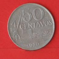 BRAZIL  50  CENTAVOS  1970   KM# 580a  -    (1997) - Brésil