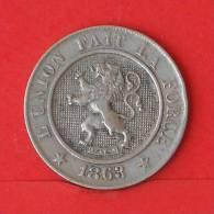 BELGIUM  10  CENTIMES  1963   KM# 22  -    (1999) - 1831-1865: Léopold I