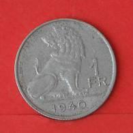 BELGIUM  1  FRANC  1940   KM# 120  -    (2000) - 1934-1945: Leopold III