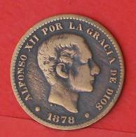 SPAIN  5  CENTIMOS  1878   KM# 674  -    (2019) - Primeras Acuñaciones
