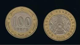 KAZAJSTAN - KAZAKHSTAN -   100 Tenge  2002  KM39 - Bimetal - Kazajstán