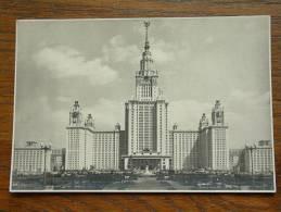 DE MOSKOUSE STAATSUNIVERSITEIT - Anno 19?? ( Fotokaart 95 X 145 Mm. - Zie Foto Voor Details ) !! - Russie