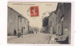 CPA 52 - AILLIANVILLE - La Grande-Rue - TB Plan De L'intérieur Du Village Avec Belle Animation - France