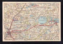 E-EU-66 POS BLANK LATVIA MAP - Lettonie