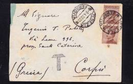 E-EU-69 LETTER FROM ITALY TO GREECE KORFU 09.04.1922