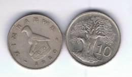 ZIMBABWE - 10 Cents  1980  KM3  -  Baobab Tree - Zimbabwe