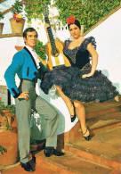 ESPANA TIPICA - DANZAS DE ESPANA - Couple De Danseurs De Flamenco Avec Guitare - 2 Scans - Bailes