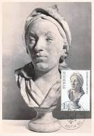 Carte-Maximum SUEDE N°Yvert 1068 / Buste De Carl Johan Cronstedt Par Bouchardon - Maximum Cards & Covers