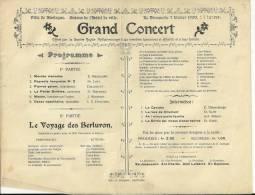 Bastogne : Un Lot De 10 Affiches A4 Annonçant Des Concerts Entre 1899 Et 1909 - Documents Historiques