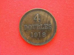 4 Doubles De 1918 H /TTB+ - Monnaies