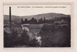 COURS(69)/ INDUSTRIES / Vue Panoramique / Usines De La Fargette Et Le Château - Francia