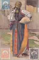 Hongrie - Illustrateur Types Hongrois - Femme Costume Folklore - Oblitération Stamps - Hungary