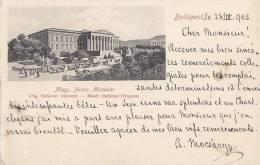 Hongrie - Budapest - Précurseur Musée - Postmark 1905 - Hungary