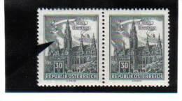 ZUB370 ÖSTEREICH 1957/70 ANK 1091 GINDL 1/I PLATTENFEHLER FARBFLECK In WOLKE IM PAAR MIT NORMALER MARKE ** - Abarten & Kuriositäten