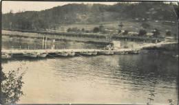 : Réf : TO -13- PH-031 : Guerre De 1914 1918   Pont De Bateaux Photo Format 6  X 10.5 Cm - Guerre, Militaire