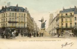 CPA  LILLE . LA  PLACE  DE  STRASBOURG .... - Lille