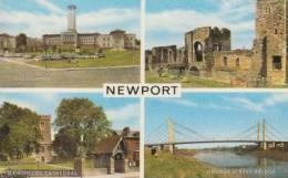 Newport       Civic Centre, The Castle, St.Woolos Cathedral, George Street Bridge               Scan 4058 - Pays De Galles