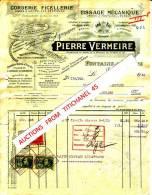 Facture De 1930 - FONTAINE L´EVEQUE - PIERRE VERMEIRE - Corderie - Ficellerie - Tissage Mécanique - België