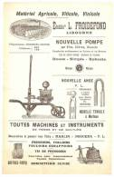 Prospectus Illustré FROIDEFOND Matériel Agricole, Viticole, Vinicole Libourne (33) - Publicités
