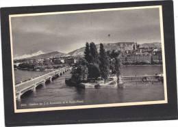 Suisse - GENEVE - Ile J J Rousseau Et Le Mont Blanc  - édition Jaeger - Non écrite - GE Genève