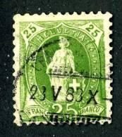 (821)  Switzerland 1888   Mi.59XA  Used     K 11 3/4  (5,00 Euros) - Gebraucht