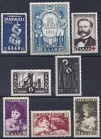 Sarre -Année 1953 YT 319-326** / Saarland-Jahrgang 1953 Mi.Nr. 341-347** + 328** - 1947-56 Occupation Alliée