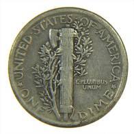 DIME MERCURY 1920 P ARGENTO SILVER SILBER - Emissioni Federali