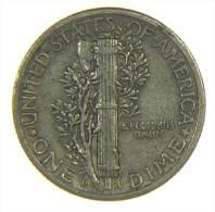 U.S.A. - STATI UNITI D' AMERICA - ONE DIME ( 1943 / D ) MERCURY - AG / SILVER / SILBER - Emissioni Federali