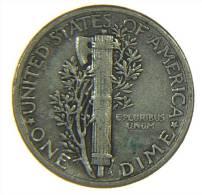 U.S.A. - STATI UNITI D' AMERICA - ONE DIME ( 1943 ) MERCURY - AG / SILVER / SILBER - Emissioni Federali