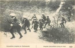 GUERRE 1914  GRENADIERS ANGLAIS EN EMBUSCADE     SCANS RECTO VERSO - Oorlog 1914-18